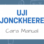 Cara Manual Uji Jonckheere