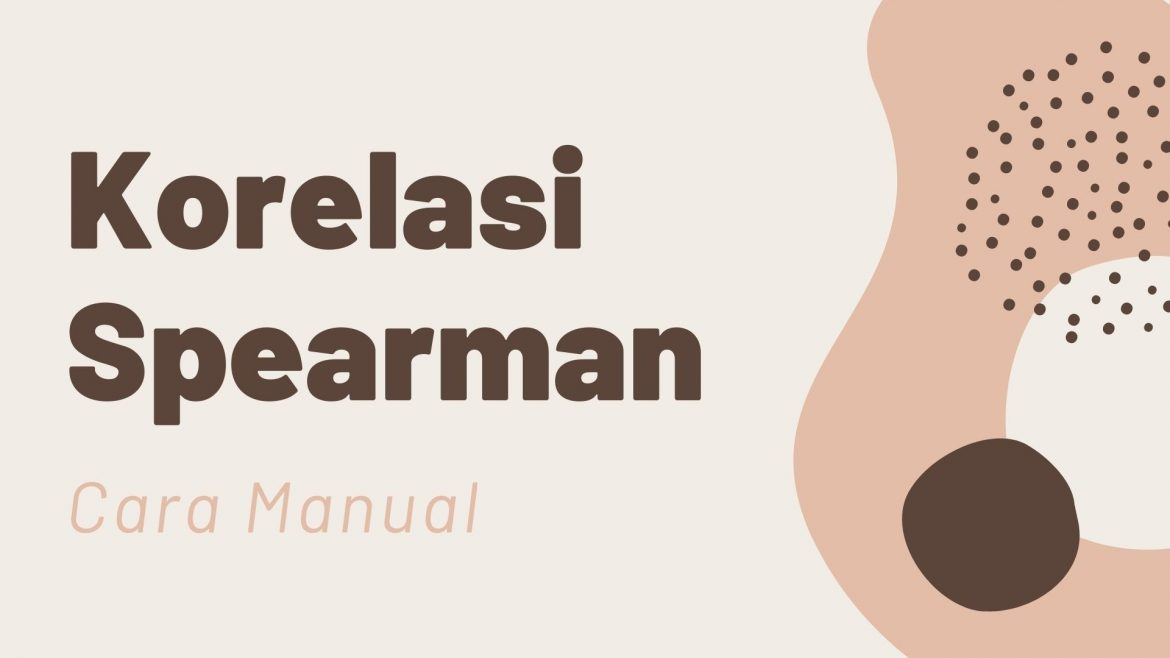 Thumbnail Cara Manual Korelasi Spearman